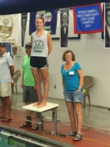 Alexis Biltz winning a 2016 Michael J Stott Scholarship